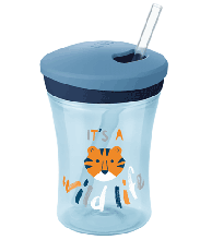 NUK 230ml 吸管杯 蓝色